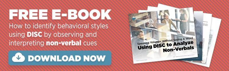 Download a free eBook about observing DISC non-verbals