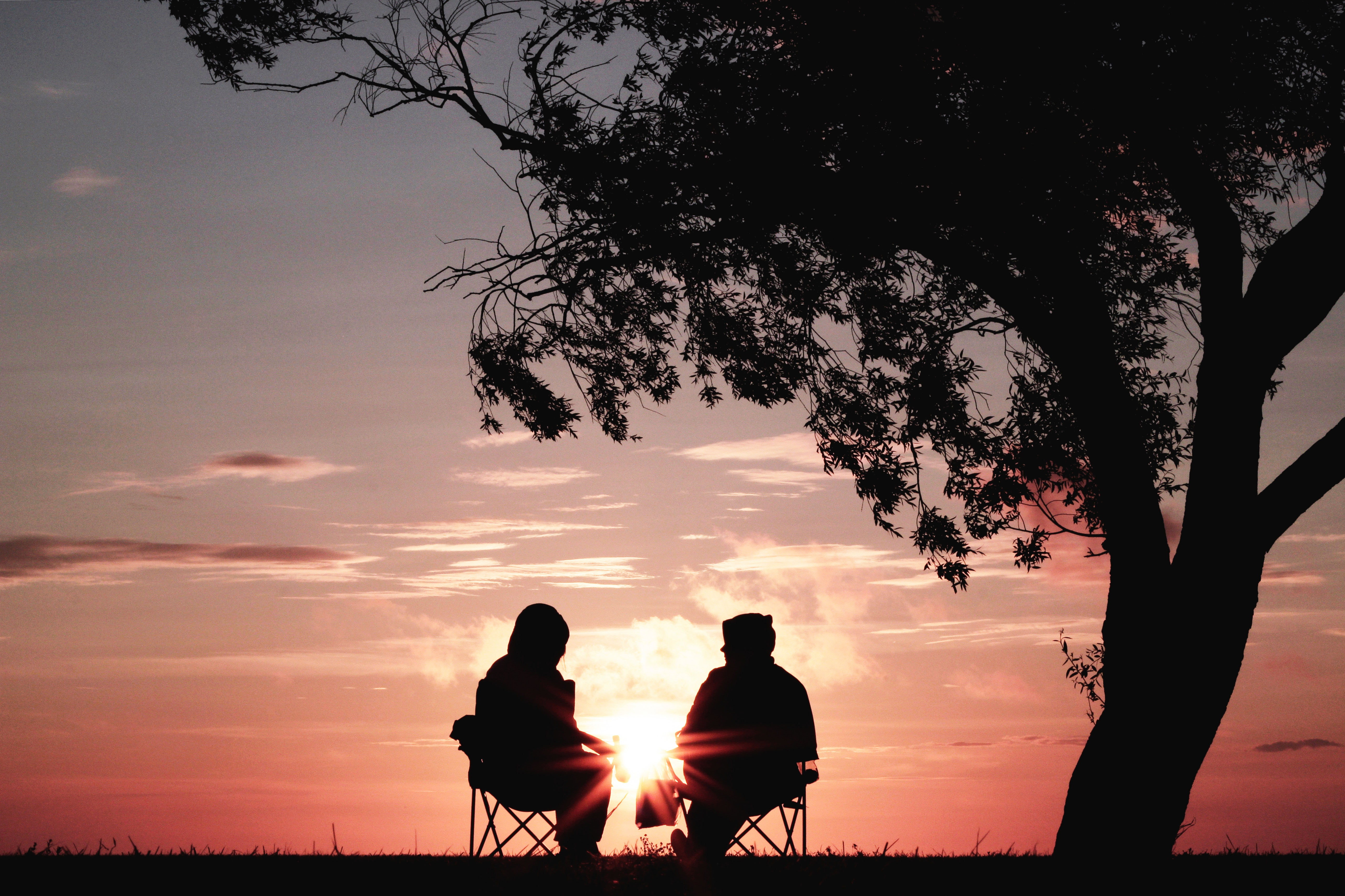 2 people in sunset