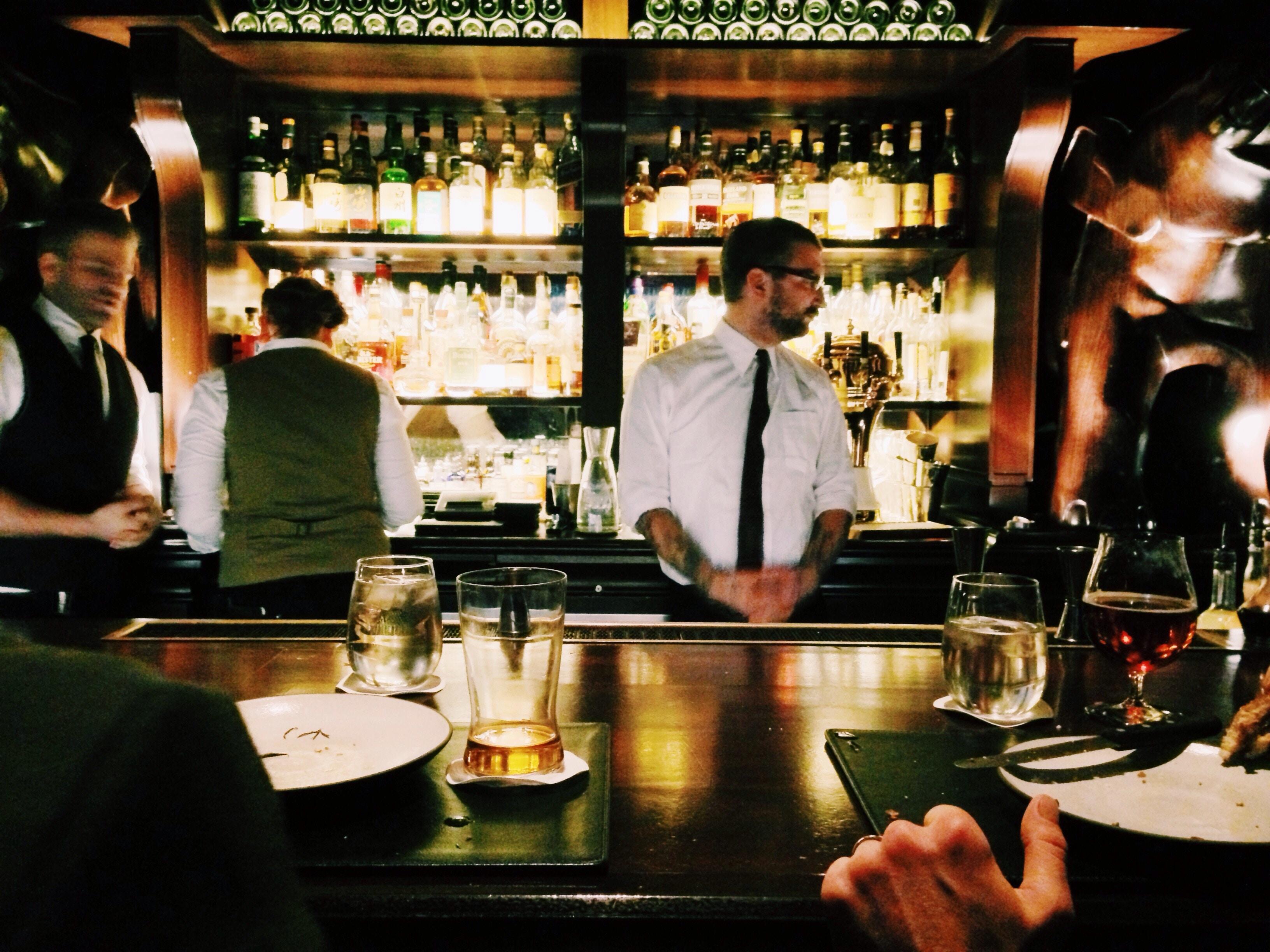 confused bartender