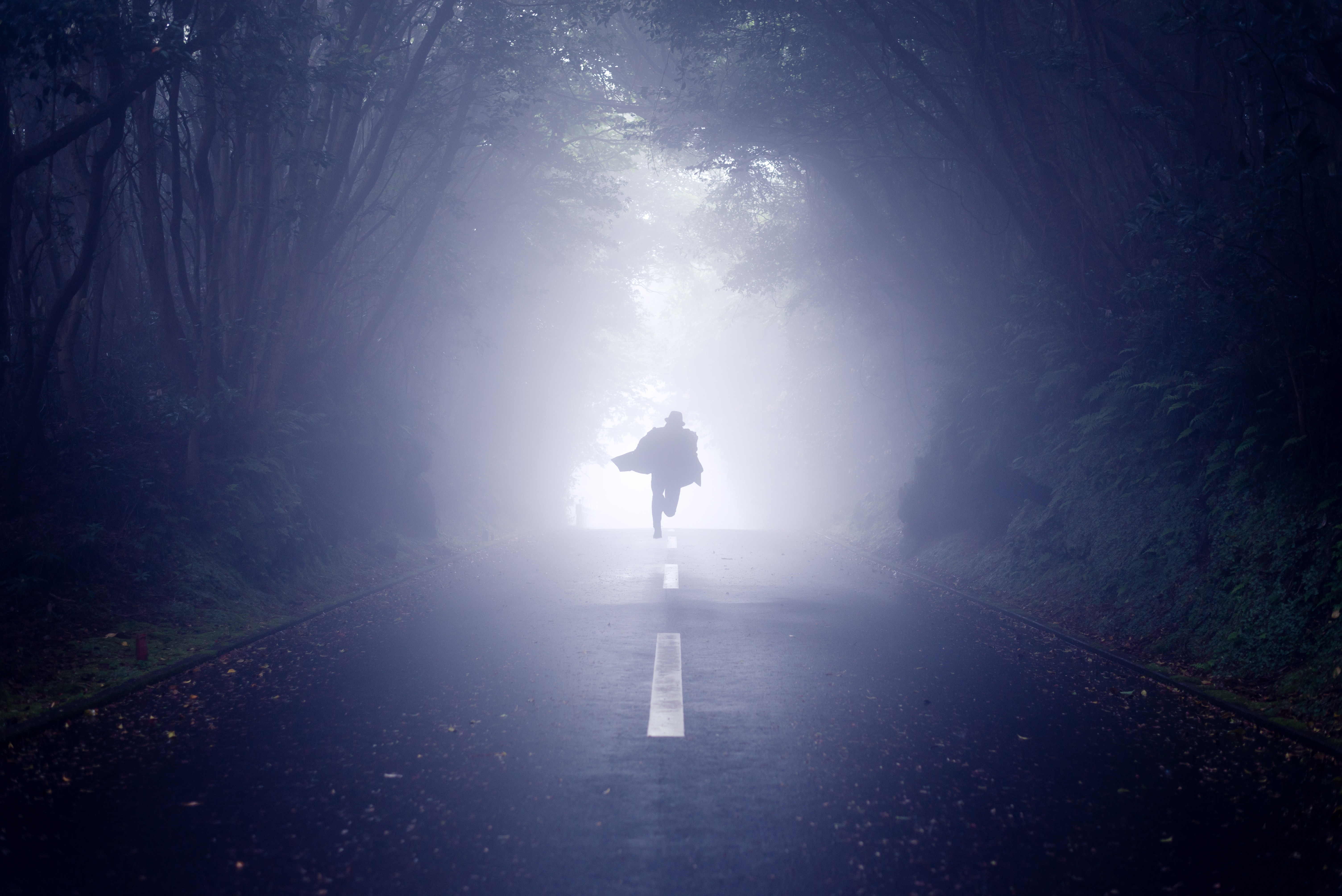 person running on road as a dream