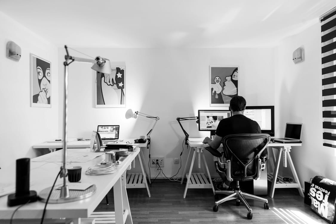 Entrepreneur working from home